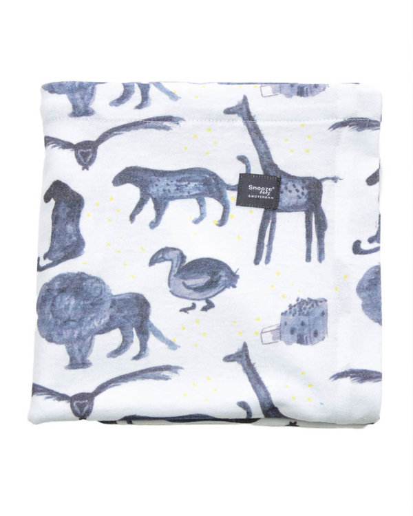 2-pack: Fitted Sheet Storm Blue + Bumble 60x120cm