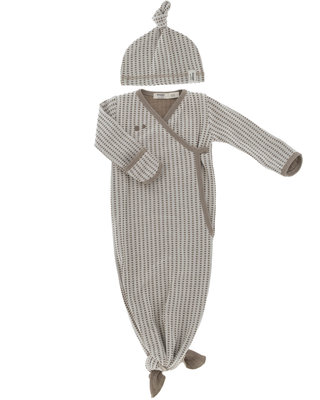 ORGANIC new born cocoon incl mutsje - 0-3 maanden Warm Brown
