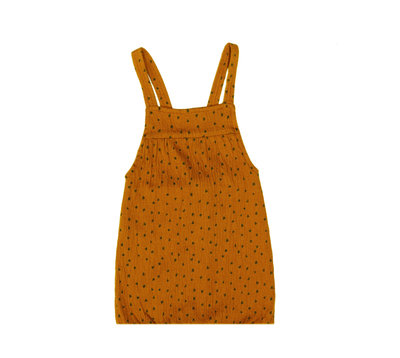 ubercute salopette sleeveless made of organic cotton - colour: Toffee houses SS22