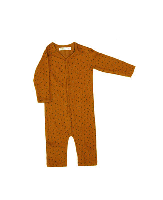 babysuit in softest material - colour: Toffee houses SS22