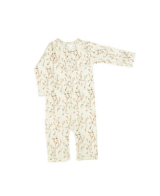 babysuit in softest material - colour: Vanilla plants SS22