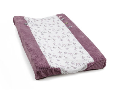 Changing pillow Cover Happy Dressing (45 x 70cm) Soft Mauve